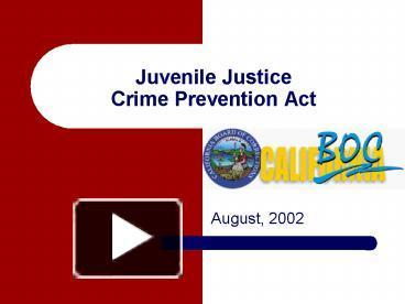 prevention of juvenile crime