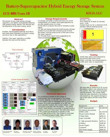 PPT – Battery-Supercapacitor Hybrid Energy Storage System PowerPoint