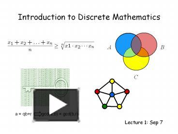 Ppt Introduction To Discrete Mathematics Powerpoint Presentation Free To Download Id 48286f Ytnho
