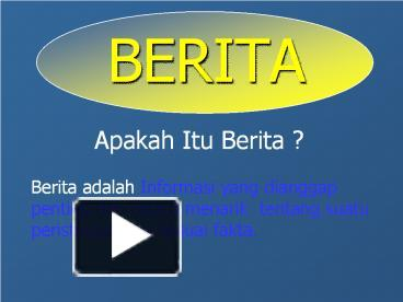 Ppt Berita Powerpoint Presentation Free To Download Id 48ad8d