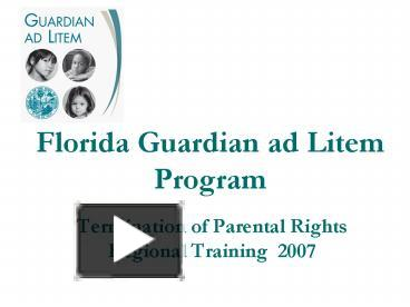 an introduction to the guardia ad litem program
