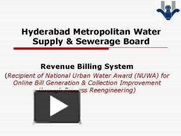 PPT – Hyderabad Metropolitan Water Supply PowerPoint presentation