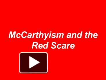the crucible and the red scare