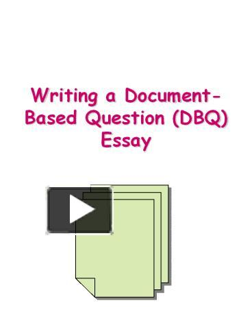 writing a document