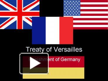 did treaty versailles punish germany