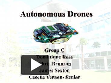 PPT – Autonomous Drones PowerPoint presentation | free to