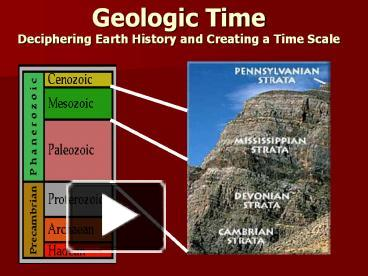 geological time scale absolute dating