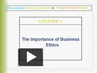 Ppt The Importance Of Business Ethics Powerpoint Presentation
