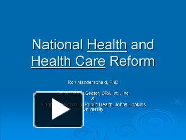 national healthcare reform in us impact on Defense and national security disaster preparation and the united states would face steadily increasing federal budget deficits and debt over the next 30.