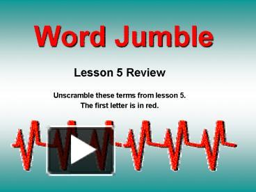 ppt word jumble powerpoint presentation free to download id 4aad95 zmjlm