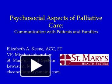 psychosocial aspects of care