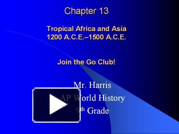 ap worldhistory ch 13 Ap world history - ch 12 islam and politics: crash course world history 216 - duration: 13:28 crashcourse 2,313,654 views 13:28 ap world history.
