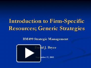 an introduction to firm specific advantages Location specific advantages -- principles mon jun 20 16:24:38 edt 2011 by sébastien gonnet, pim fris, and tommaso coriano.