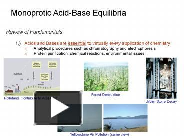 equilibrium and acid base review