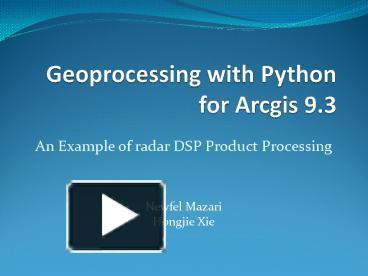 Python Radar Processing