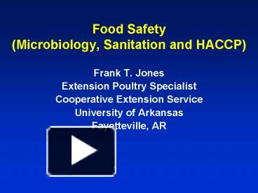 food safety powerpoint template - ppt food safety microbiology sanitation and haccp