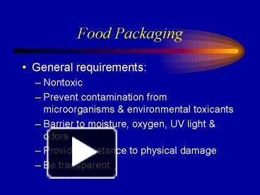 PPT – Food Packaging PowerPoint presentation | free to view - id