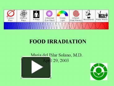 a description of food irradiation as the longest history Food irradiation is a method of preserving food by using a type of radiation energy it is one of several techniques that can be used by food producers to protect the quality of food before it reaches the grocery store.