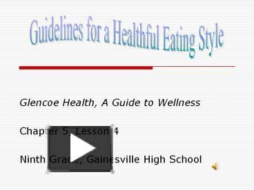 Glencoe health 2005 chapter 5 essay question