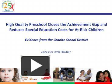 the importance of preschool in closing the achievement gap
