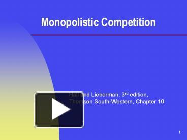 Ppt Hall And Lieberman 3rd Edition Thomson South Western Chapter 10 Powerpoint Presentation Free To Download Id 4f625a Ywjkn