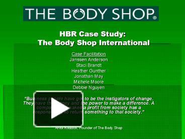the body shop case study
