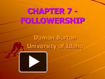 ppt – chapter 7 - followership powerpoint presentation   free to, University Of Idaho Presentation Template, Presentation templates