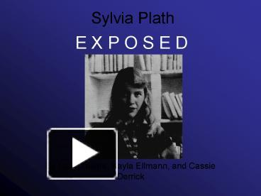 sylvia plath thesis statement for an essay