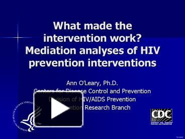 an analysis of hiv prevention