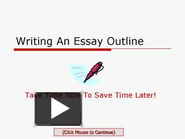 writing an essay outline powerpoint