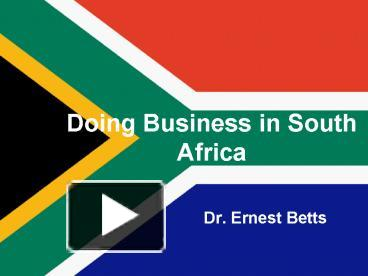 doing business in south africa