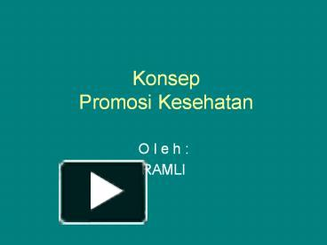 Ppt Konsep Promosi Kesehatan Powerpoint Presentation Free To Download Id 51a7de Odi2m