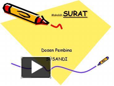 Ppt Makalah Surat Powerpoint Presentation Free To