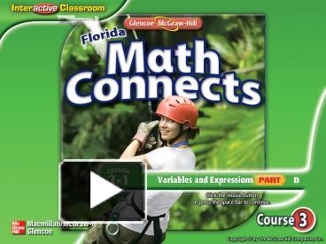 PPT – Glencoe Math Connects, Course 3 PowerPoint presentation | free