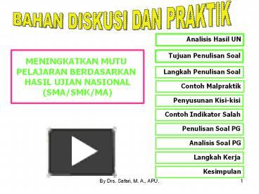Ppt Tujuan Penulisan Soal Powerpoint Presentation Free To View