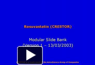 Rosuvastatin Free Trial