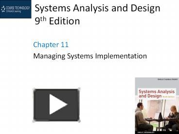 Ppt Systems Analysis And Design 9th Edition Powerpoint Presentation Free To Download Id 5263f9 Yzqyn