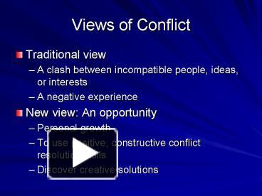 traditional conflict view