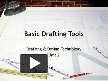 drafting design basics