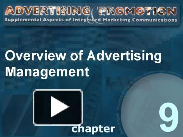 an overview of advertising Download the marketing to children overview fact sheet here marketing contributes to many problems facing children today marketing directly to children is a factor in the childhood obesity epidemic[1.