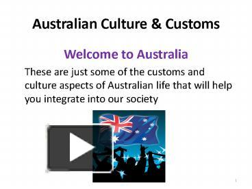 ppt australian culture powerpoint presentation free to download id 55231e owrln