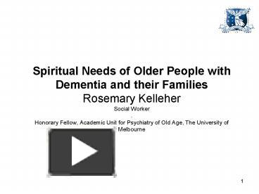 what are the spiritual needs of the elderly