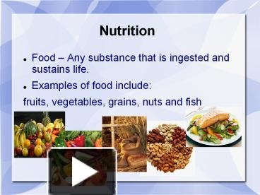 essay on food and nutrition in sustaining life