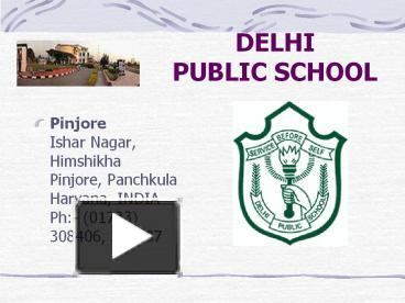 PPT – DELHI PUBLIC SCHOOL PowerPoint presentation | free to download