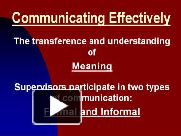 understanding effective communication a speech Effective communication extends the concept to require that transmitted content is received and understood by someone in the way it was intended the goals of effective communication include creating a common perception, changing behaviors and.