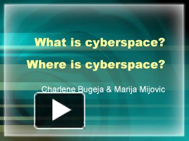 Image result for what is cyberspace