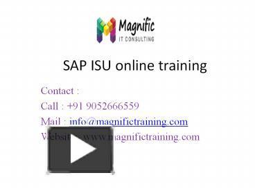 PPT – SAP ISU training PowerPoint presentation | free to