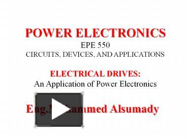 PPT – POWER ELECTRONICS PowerPoint presentation | free to