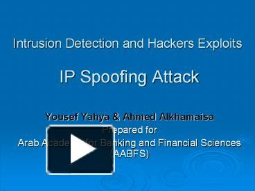 hacking techniques and intrusion detection Learn how you can use free network intrusion detection and prevention tools and products, such as snort, to detect and prevent hacker attacks.