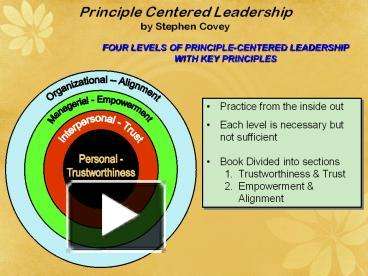 principle centered leadership covey By stephen r covey the wisdom and teachings of stephen r covey  book  cover image (jpg): principle centered leadership abridged compact disk.